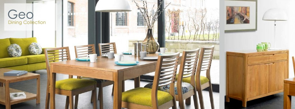 Mark Webster Geo Dining Collection - Table with 4 chairs - �799